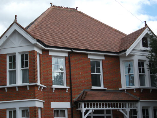 Roof Replacement in Surrey, Sandtoft Tuscany clay plain tile.