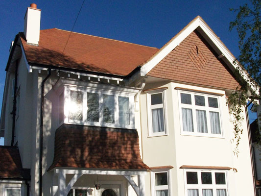 Pitched Roof Sutton Local Roofer Croydon & Surrey - Sandtoft Tuscany clay plain tile.